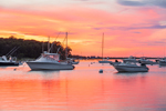 Boats in Lake Tashmoo at Sunset, Martha's Vineyard, Tisbury, MA