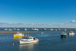 Fishing Fleet and Tern Island, View from Chatham Fishing Pier, Chatham Harbor, Cape Cod, Chatham, MA