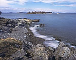 View of East Penobscot Bay and Boy Scout Island from Mullen Head Park on North Haven Island