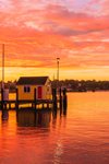 Sunset at Tisbury Wharf, Vineyard Haven Harbor, Vineyard Haven, Martha's Vineyard, Tisbury, MA