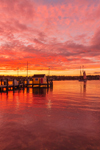 Sunset at Tisbury Wharf, Vineyard Haven Harbor, Vineyard Haven, Martha's Vineyard, Tisbury, MA