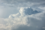 Thunderhead Clouds Building over Napatree Point and Block Island Sound, Offshore from Westerly, RI