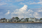 Thunderhead Clouds Building over Homes at Groton Long Point and Fishers Island Sound, Groton, CT