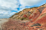 Colorful Clay Cliffs at Moshup Beach, Martha's Vineyard, Aquinnah, MA