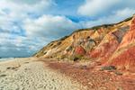 Colorful Clay Cliffs at Moshup Beach, Martha's Vineyard, Aquinnah, MA
