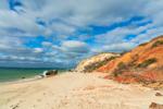 Sandy Beach and Colorful Gay Head Cliffs, Martha's Vineyard, Aquinnah, MA