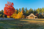 Natural Wood Barn in Fall, White Mountain National Forest, Albany, NH