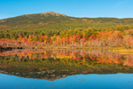 Mount Monadnock Reflecting in Perkins Pond in Autumn, Monadnock Region, Troy, NH
