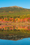 Mount Monadnock Reflecting in Perkins Pond in Autumn, Monadnock Region, Troy, NH