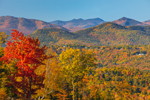 White Mountains in Fall, White Mountain National Forest, View from Jackson, NH