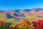 View of White Mountain National Forest in Fall, White Mountains Region, Bartlett, NH