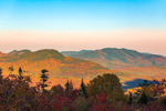 White Mountain National Forest in Fall, View from C.L. Graham Wangam Grounds Overlook on Kancamagus National Scenic Byway, Livermore, NH