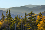 White Mountain National Forest in Fall, View from Pemigewasset Overlook on Kancamagus National Scenic Byway, Lincoln, NH