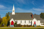 St. Paul's Episcopal Church in Fall, White Mountains Region, Lancaster, NH