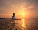 Brant Point Light at Sunrise, Nantucket Harbor