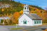 Stark Union Church in Fall, Built 1853, Stark, NH