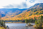 Fall Foliage on Mount Blue, Mount Moosilauke, and Beaver Pond, White Mountain National Forest, View from Woodstock, NH