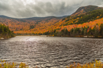 Mount Moosilauke and Mount Blue at Beaver Pond in Fall, White Mountain National Forest, View from Woodstock, NH