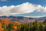 Franconia Range of White Mountains in Fall, White Mountain National Forest, View from Woodstock, NH