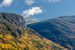 Close Up View of Eagle Cliff and Mount Lafayette in Fall, Franconia Notch State Park, White Mountains Region, Franconia, NH