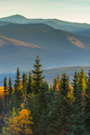 Early Morning Light Shines on Franconia and Presidential Ranges, White Mountain National Forest, View from Woodstock, NH