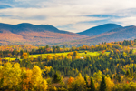 Pilot and Pliny Ranges of White Mountains in Fall, View from Lancaster, NH