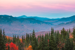 Sunset over Franconia Range and White Mountain National Forest, View from Woodstock, NH
