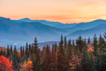 Sunrise over Franconia and Presidential Ranges, White Mountain National Forest, View from Woodstock, NH