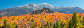 Snow-covered Summit of Mount Lafayette and Franconia Range in Fall, White Mountain National Forest, Franconia, NH