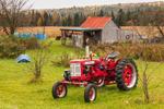Antique 230 McCormick Farmall Tractor in Fall, Northeast Kingdom, Sutton, VT