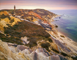 Gay Head Cliffs and Lighthouse in Evening Light, Martha's Vineyard, Aquinnah, MA