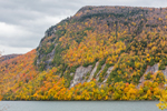 Cliffs on Mount Hor along Lake Willoughby in Fall,  Northeast Kingdom, View from Northeast Kingdom Byway in Westmore, VT
