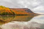 Cliffs on Mount Hor on Lake Willoughby in Fall, National Natural Landmark, Northeast Kingdom, View from Westmore, VT