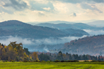 Mountain Layers in Fall with Receding Valley Fog, Northeast Kingdom, Sutton, VT