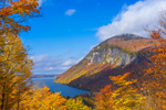Willoughby Cliffs on Mount Pisgah at Lake Willoughby in Fall, National Natural Landmark, Northeast Kingdom, Westmore, VT