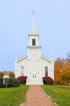 The White Meeting House, United Church of Christ in Fall, Waterbury, VT