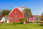 Big Red Barn at Riverside Farm in Fall, Pittsfield, VT