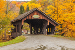Covered Bridge over Mill Brook in Fall, Waitsfield, VT