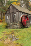 Vermont Country Store Grist Mill in Fall, Built 1808, Rockingham, VT