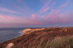 Gay Head Cliffs and Lighthouse at Sunset, Martha's Vineyard, Aquinnah, MA