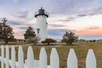 Sunset at East Chop Lighthouse, Martha's Vineyard, Oak Bluffs, MA
