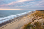 Dunes and Surf at Sunrise on South Beach, Martha's Vineyard, Edgartown, MA