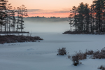 Foggy Winter Sunrise at Sportsman Pond, Fitzwilliam, NH