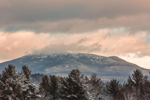 Sunrise at Mount Monadnock in Winter, View from Royalston, MA
