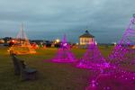 Holiday Lights and Gazebo in Ocean Park, Martha's Vineyard, Oak Bluffs, MA
