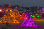 Holiday Lights in Ocean Park, Martha's Vineyard, Oak Bluffs, MA