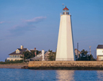 Lynde Point Lighthouse, Long Island Sound and Connecticut River, Old Saybrook, CT