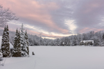Winter Sunrise at Lake Raponda, Wilmington, VT