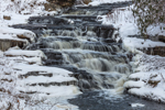 Cascades on Turkey Hill Brook in Winter, Moore State Park, Paxton, MA