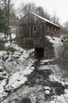 Old Sawmill on Turkey Hill Brook in Winter, Moore State Park, Paxton, MA
